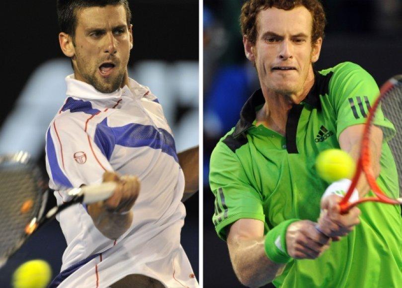 Novakas Džokovičius ir Andy Murray žais vienoje grupėje.