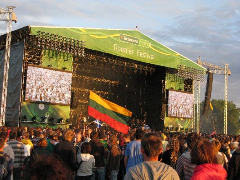 Lietuvos vėliavos festivalyje.