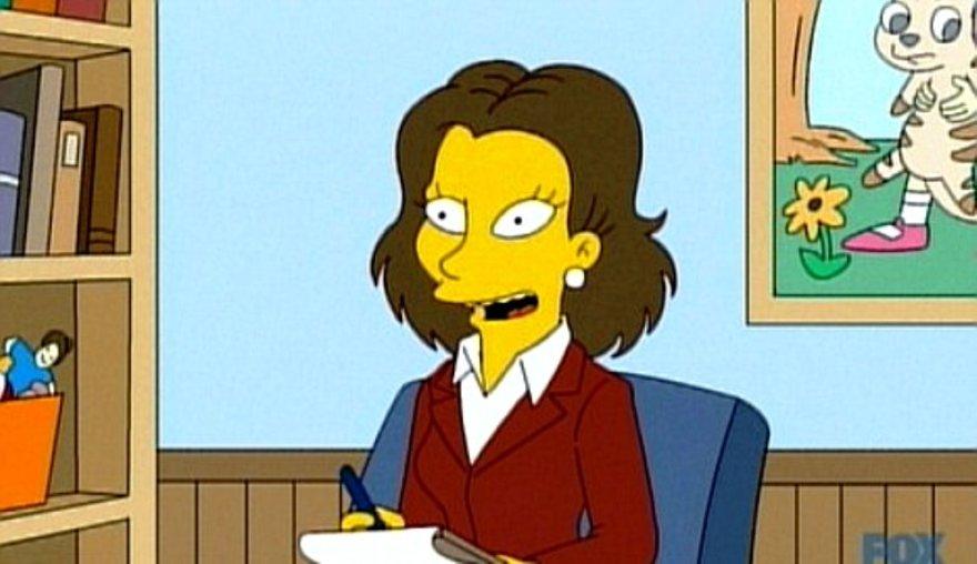 """R.Weisz įgarsinta psichologė """"Simpsonuose"""""""