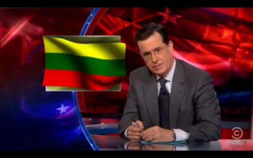 JAV komikas Stephenas Colbertas