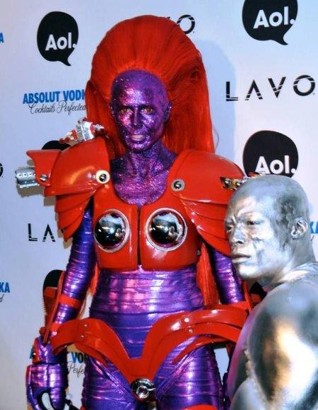 Heidi Klum ir Sealas Helovino vakarėlyje