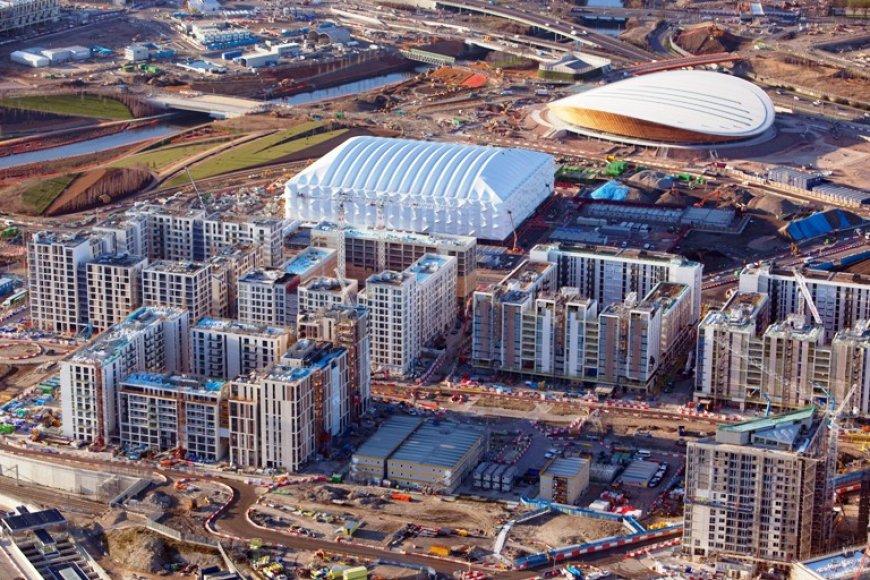 London 2012-ųjų olimpinėms žaidynėms statomas Olimpinis miestelis