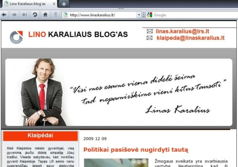 Lino Karaliaus-Ezopo tinklaraštis.