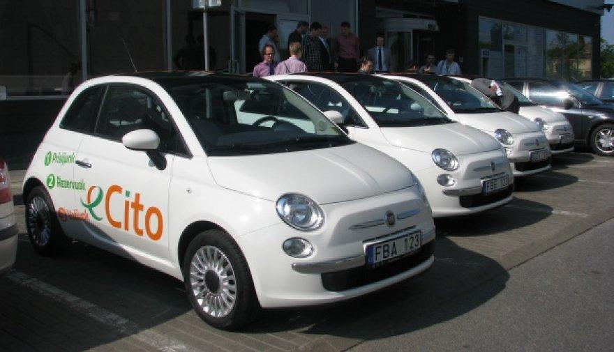 """""""eCito"""" startuoja su 6 miestui pritaikytais, mažalitražiais automobiliais """"Fiat 500""""."""