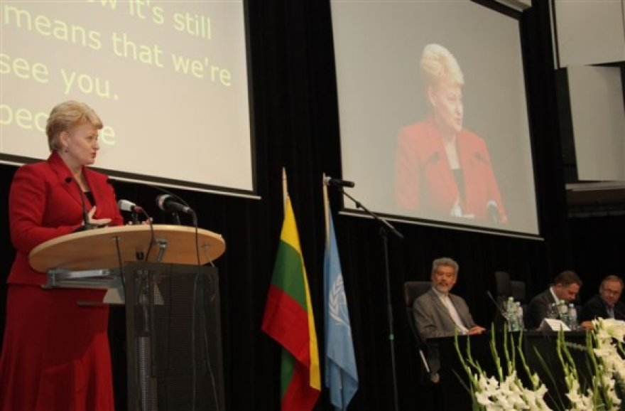 Prezidentė Dalia Grybauskaitė Interneto valdymo forumo atidaryme.