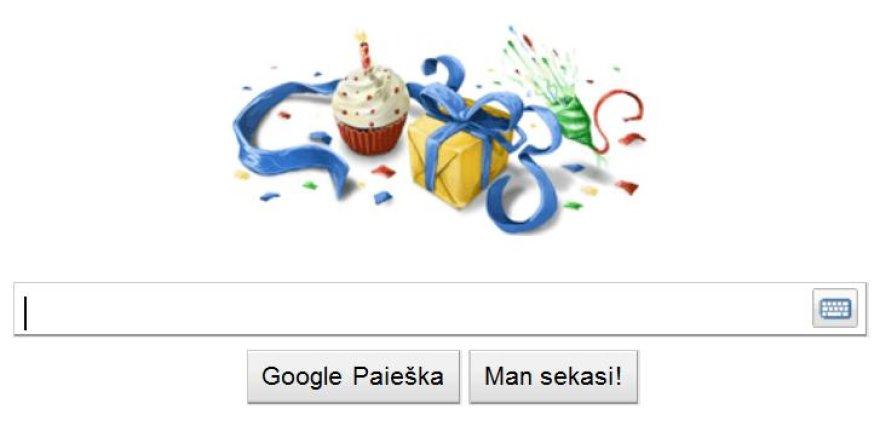"""Google"" gimtadienio logotipas."