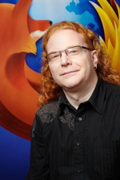 """Mozilla"" programavimo technologijų evangelistas Christianas Heilmannas."