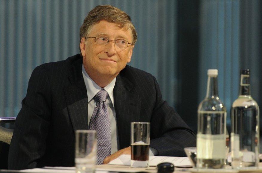 """Vienas iš kompanijos """"Microsoft"""" įkūrėjų bei ilgametis vadovas Billas Gatesas."""