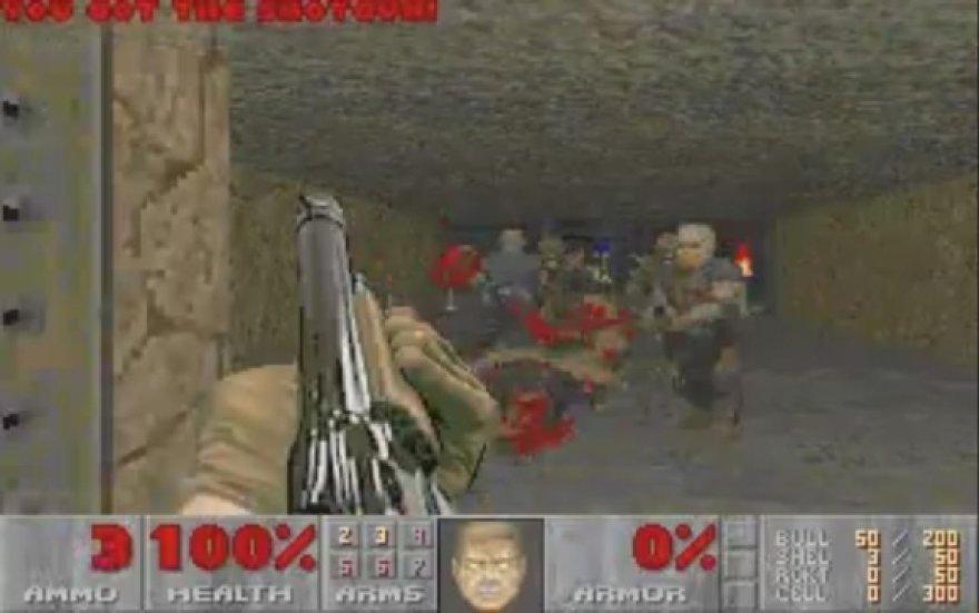 """Žaidimo """"Doom 2"""" akimirka"""