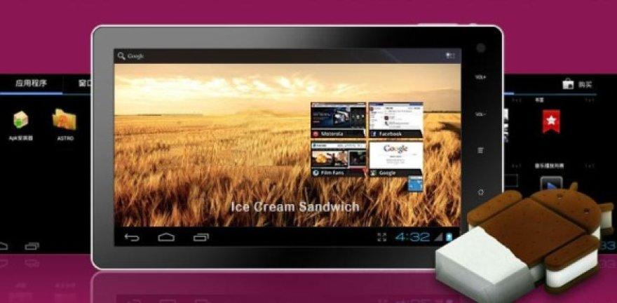 """""""Novo7"""" – pirmasis planšetinis kompiuteris su operacinė sistema """"Android 4.0"""" (arba """"Android Ice Cream Sandwich"""")."""