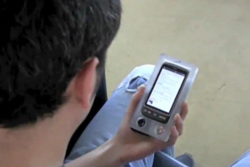 """Senseye"" akimis valdomo telefono prototipas."