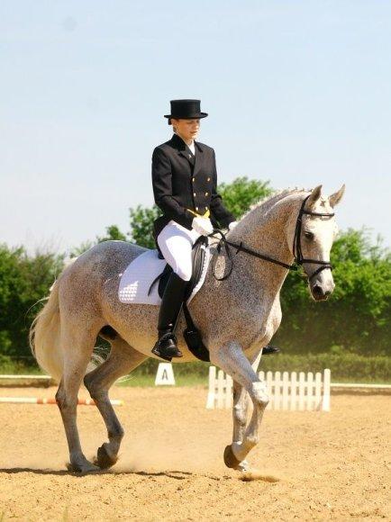 Sigita Vaičiutė žirgais domisi nuo vaikystės.