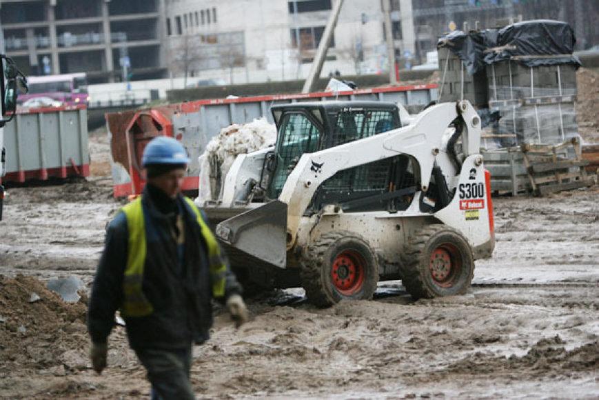 Statybų aikštelės apžiūra