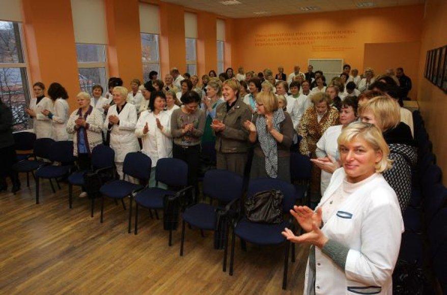 Koncertą stebėjo ne tik medikai, bet ir KRKKL pacientai