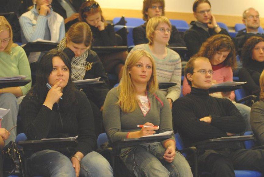 VDU studentai