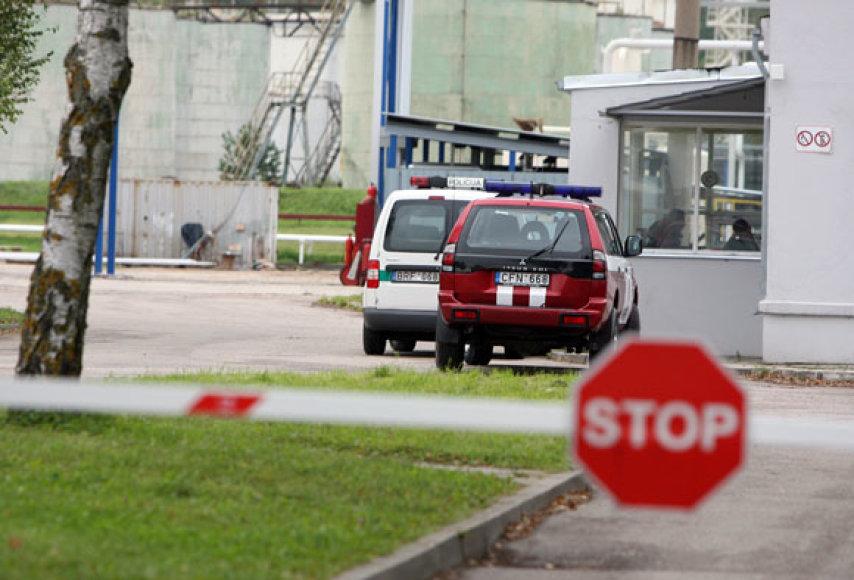 Nelaimė įvyko Kauno naftos produktų terminalo teritorijoje.