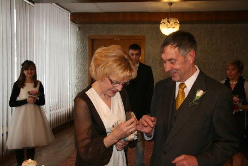 Ona ir Jonas Kopcikai šiemet mini savo santuokos 50-metį.