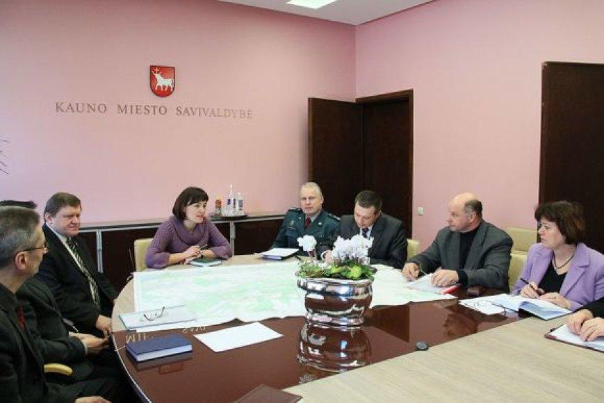 Pasitarimas dėl potvynio Kauno miesto savivaldybėje