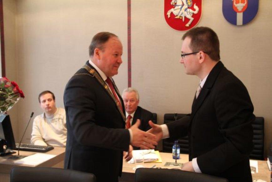 Kauno rajone mero pareigas antrą kadenciją eis Valerijus Makūnas