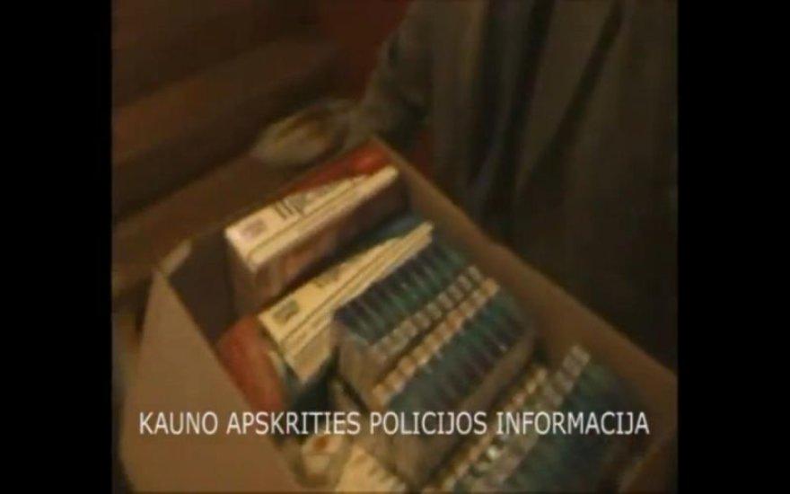 Policijos reido metu rasta kontrabandinių cigarečių