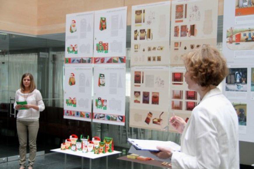Gerdos Jokubauskaitės saldainių pakuotės