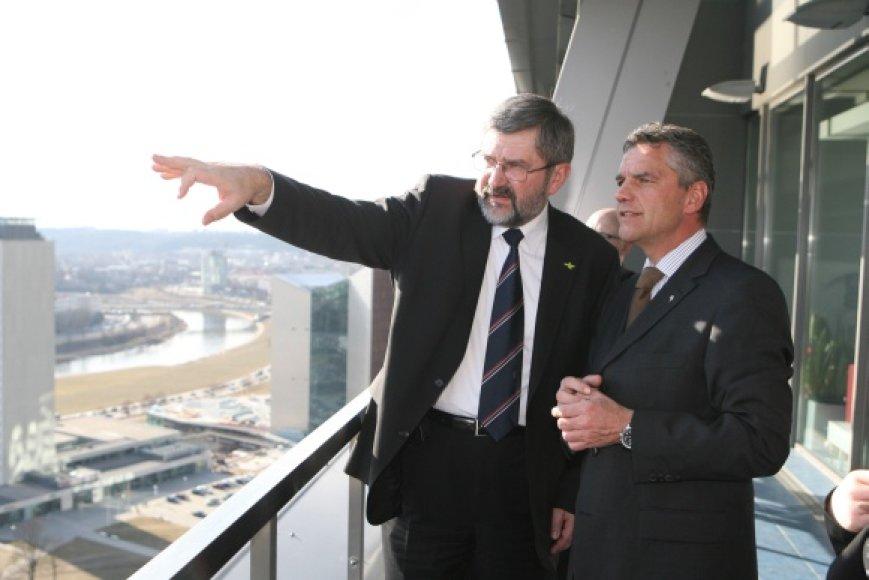 G.Babravičius ir E.Watzlas Vilniuje aptarė kultūros sostinių situacijas bei renginius.