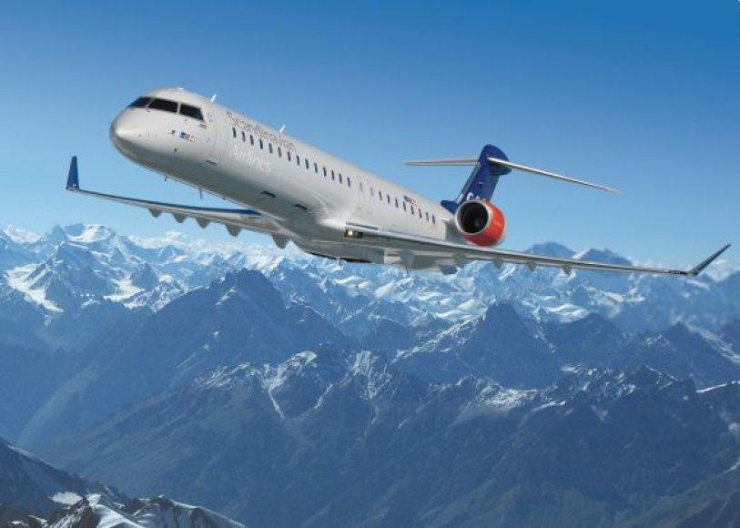 Naujasis Skandinavian SAS lėktuvas Palangoje leisis pirmadienį.