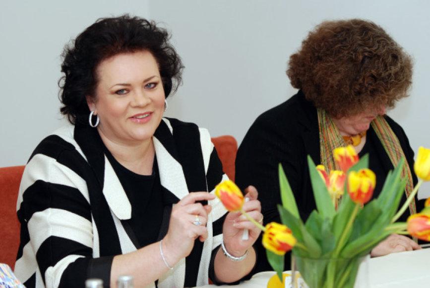 Violeta Urmanavičiūtė-Urmana antradienį atvyko į Klaipėdą.