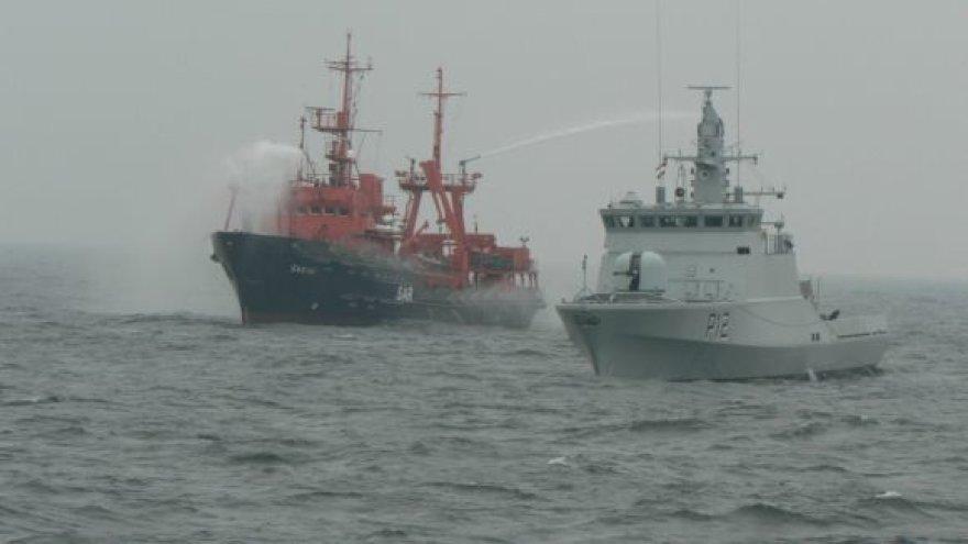 Jūroje šią savaitę vyksta kariniai mokymai.