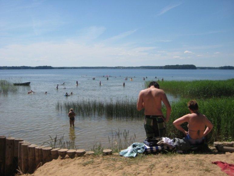Maudynės ežere
