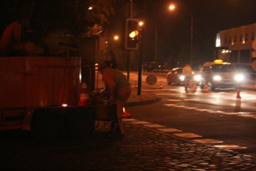 Kelininkai Pilies gatvės perėjų dažymui pasirinko Džiazo festivalį.