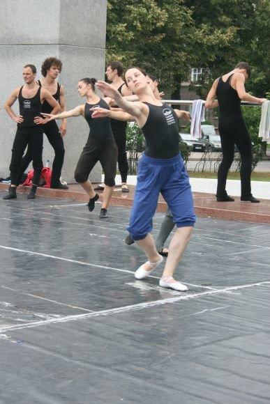 Baleto trupės repeticijos akimirka