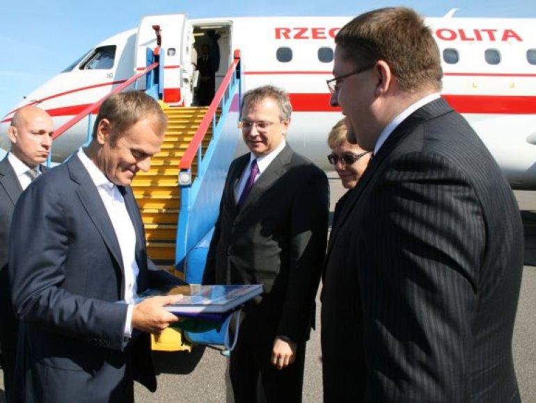 Palangoje viešėjo Lenkijos Premjeras Donaldas Tuskas.