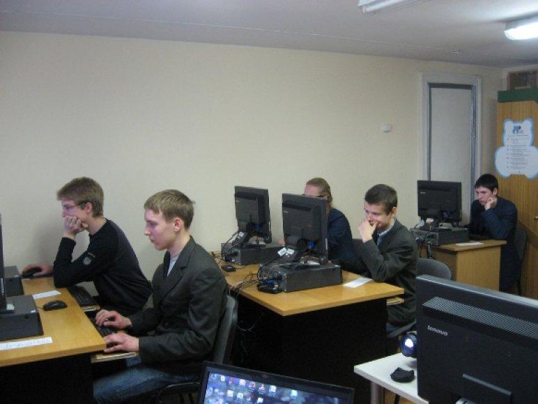 Klaipėdos savivaldybės viešojoje bibliotekoje mokiniai demonstravo savo žinias.