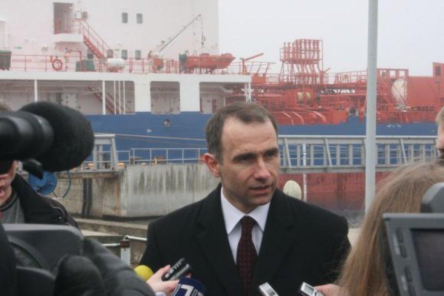"""""""Klaipėdos naftos"""" vadovas Rokas Masiulis."""
