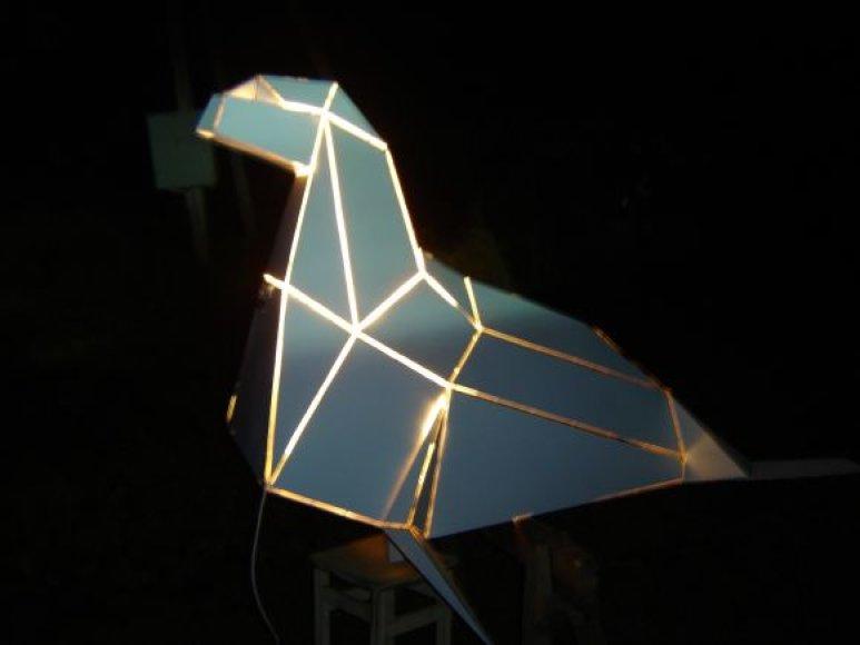 Palangą per žiemos šventes papuoš origami.