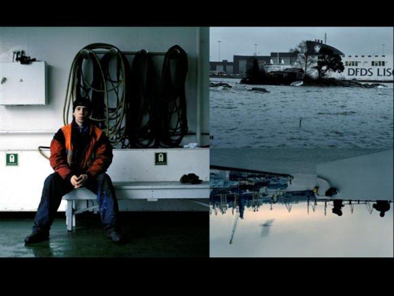 A.Valiaugos fotografijose susikerta įvairių Baltijos jūra plaukiojančiais keltais keliaujančių žmonų likimai.
