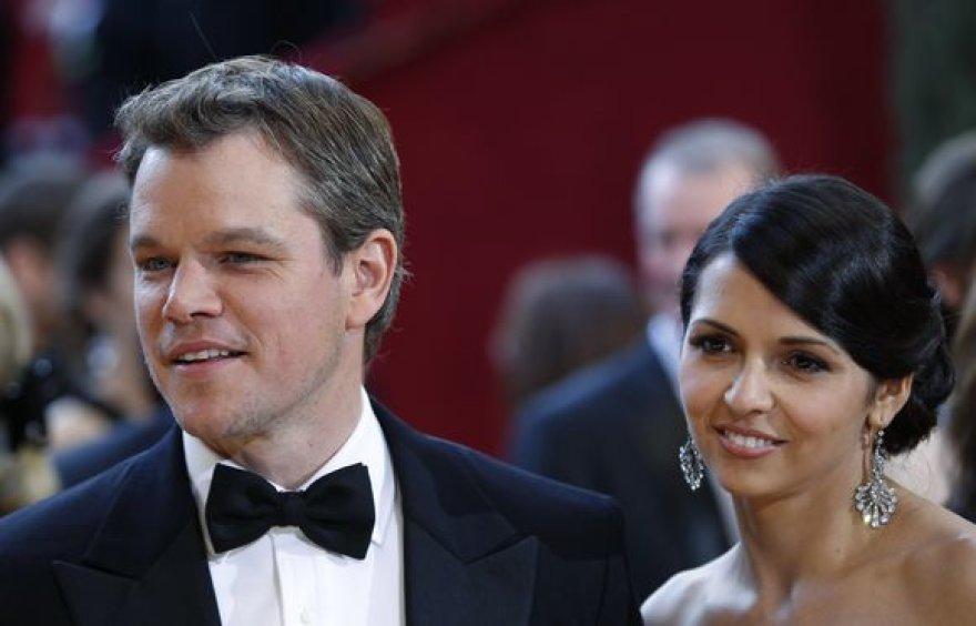 Mattas Damonas su žmona