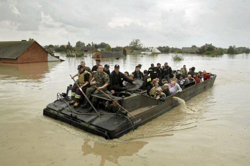 Potvyniai Lenkijoje