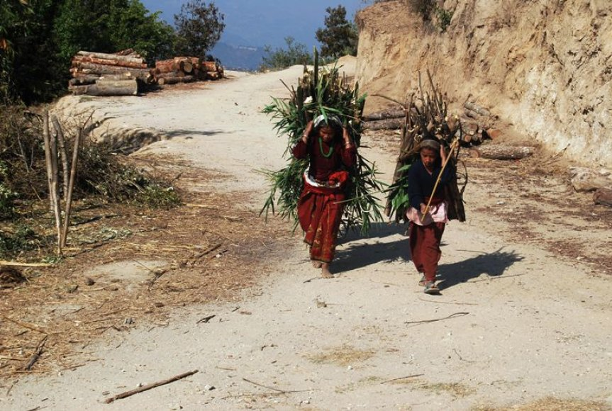 Vietinės Nepalo moterys