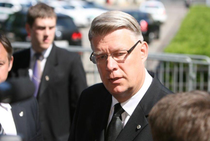 Latvijos valstybės vadovas Valdis Zatleras