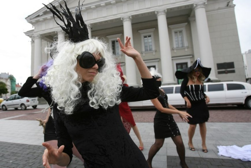 Lady Gagos nustebino Vilniaus gyventojus ir svečius