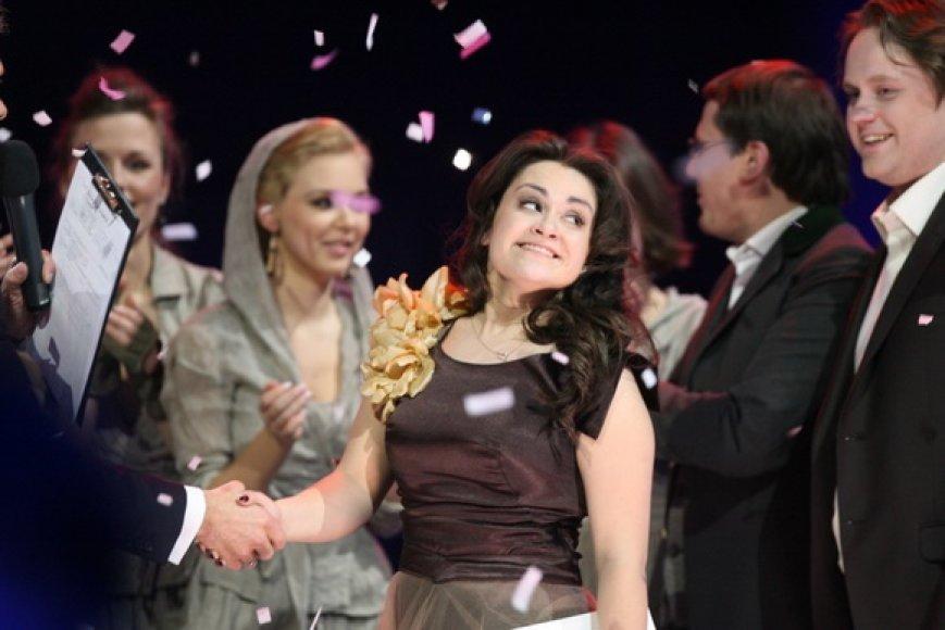 """Nacionalinės atrankos """"Eurovizijos"""" finalą  Evelina Sašenko"""
