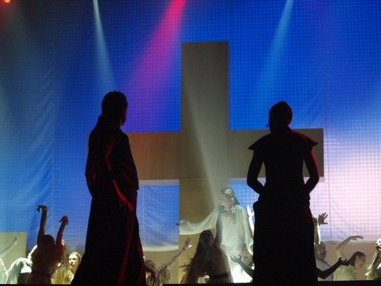 """Roko operos """"Jėzus Kristus superžvaigždė"""" akimirka"""