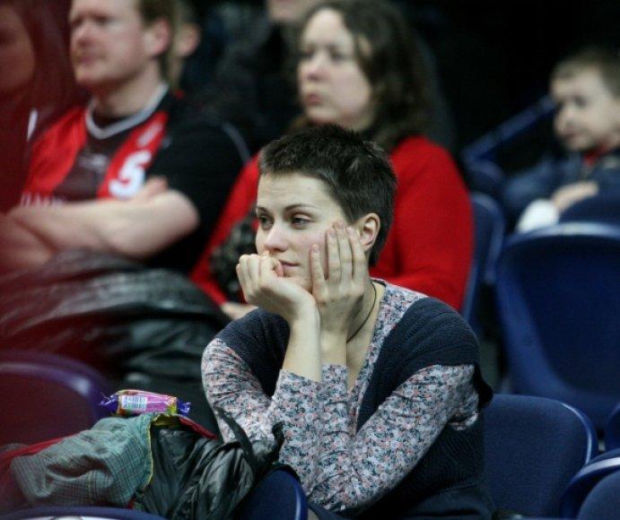 J.Šeduikytė-Bareikienė stebi krepšinio rungtynes