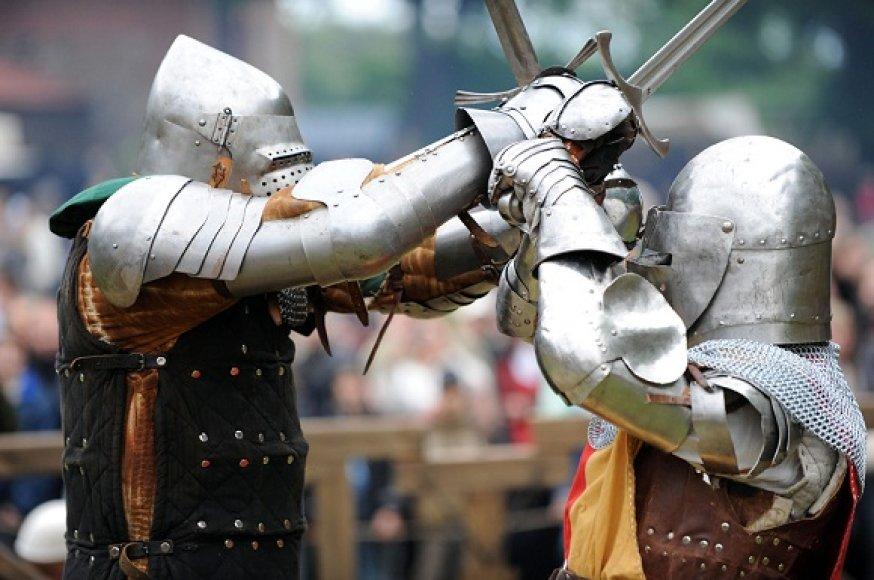 Viduramžių turnyro akimirka