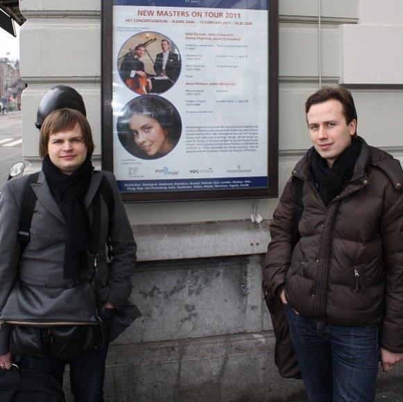 Violončelininkas Gleb Pyšniak ir pianistas Darius Mažintas