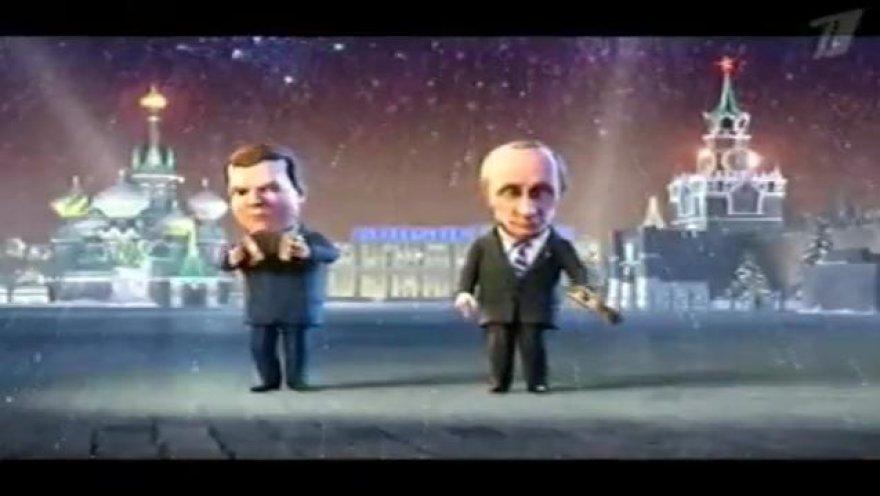 D.Medvedevas ir V.Putinas