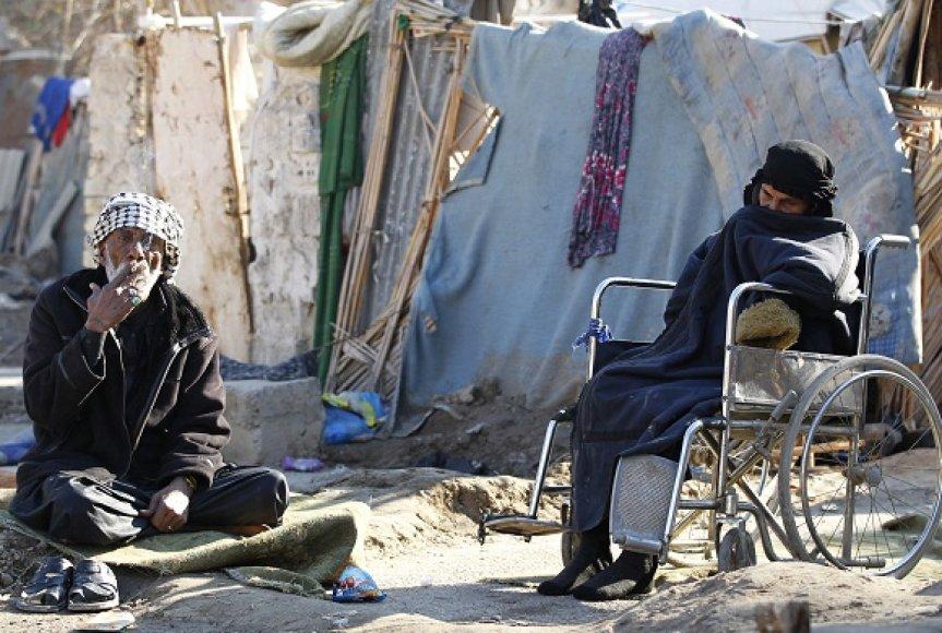 Irakiečiai, priversti palikti savo namus ir skursti