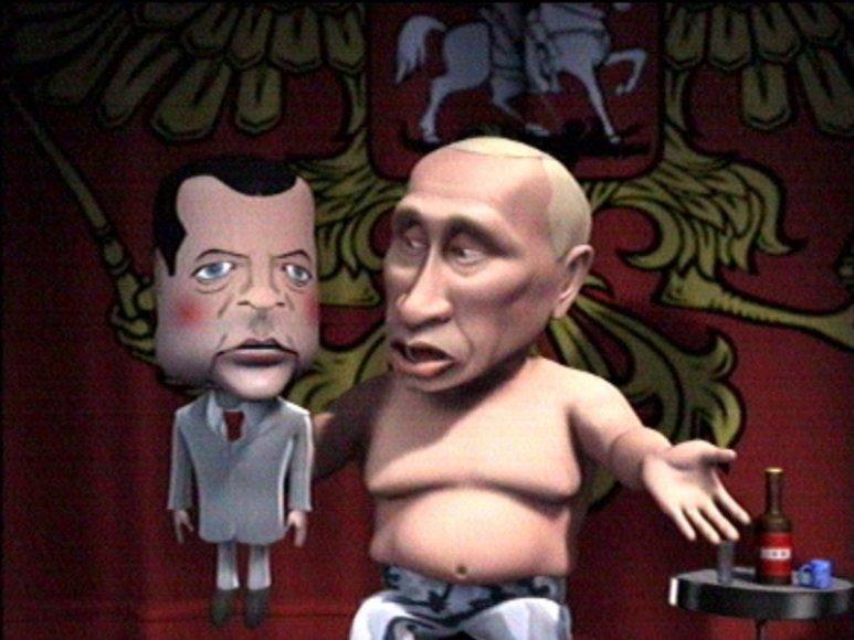 Prie Rusijos premjero V.Putino nelimpa jokia kritika. Už nepavykusią jo įgyvendinamą politiką kaltinami visi, išskyrus jį.